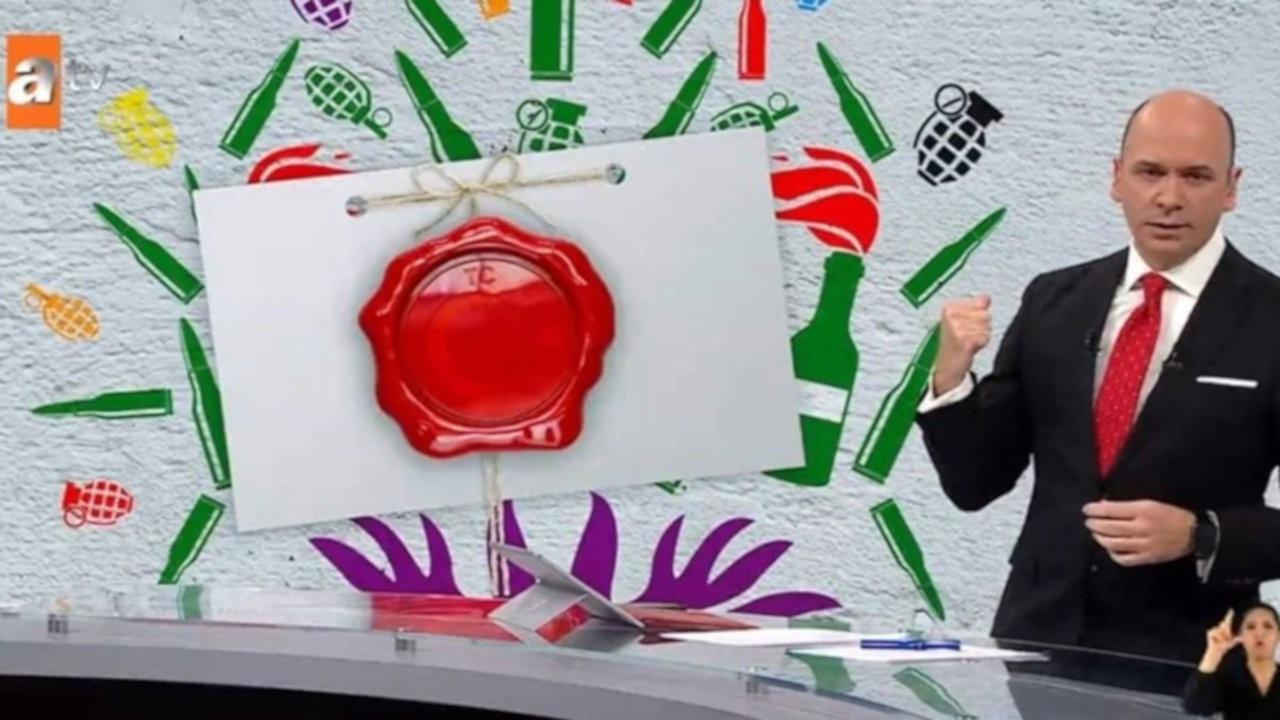 ATV yine HDP logosuna bomba ve mermi yerleştirdi
