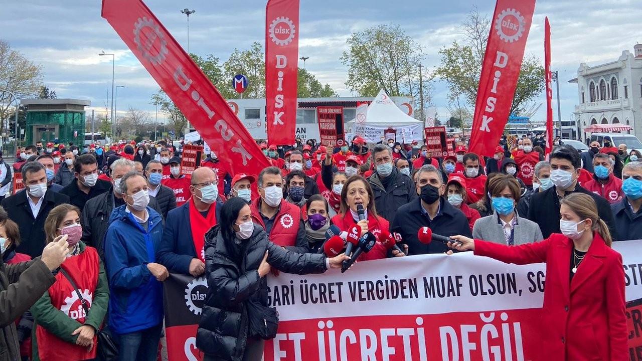 İşçilerden asgari ücret protestosu: Açlığa mahkum ettiniz
