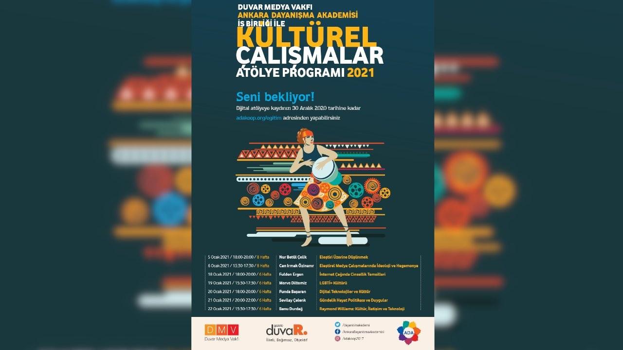 Ankara Dayanışma Akademisi Kültürel Çalışmalar Programı başlıyor