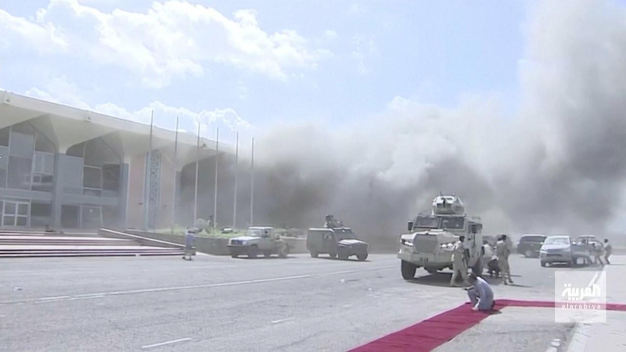 Yemen'de kabine üyelerinin ulaştığı Aden Havalimanı'nda patlama