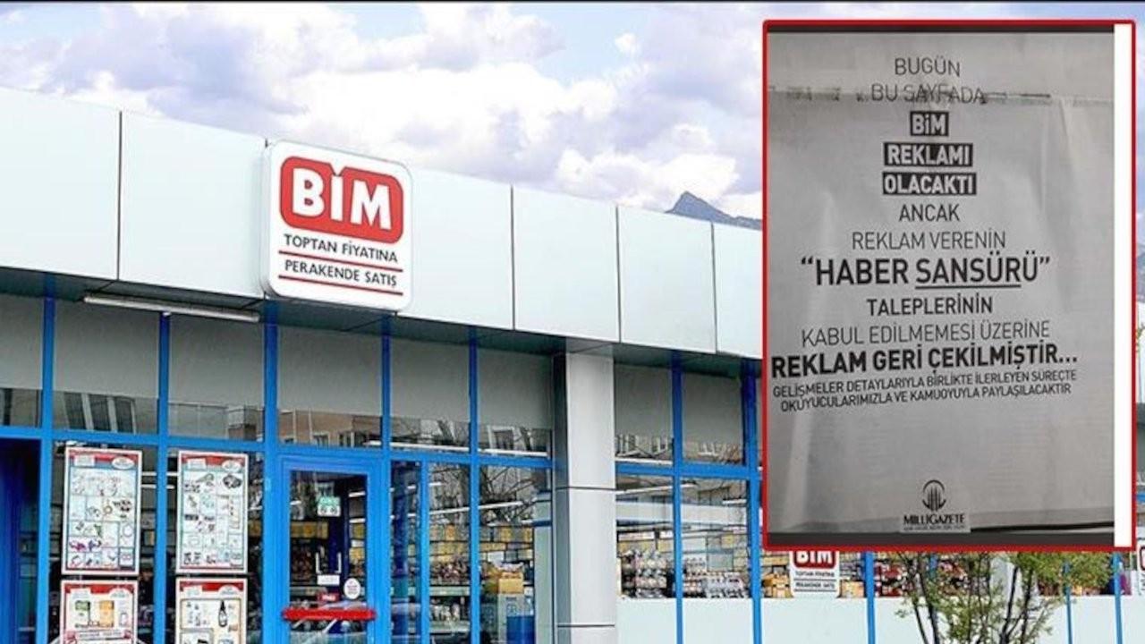 BİM'den, Milli Gazete'ye haber sansürü karşılığı reklam teklifi