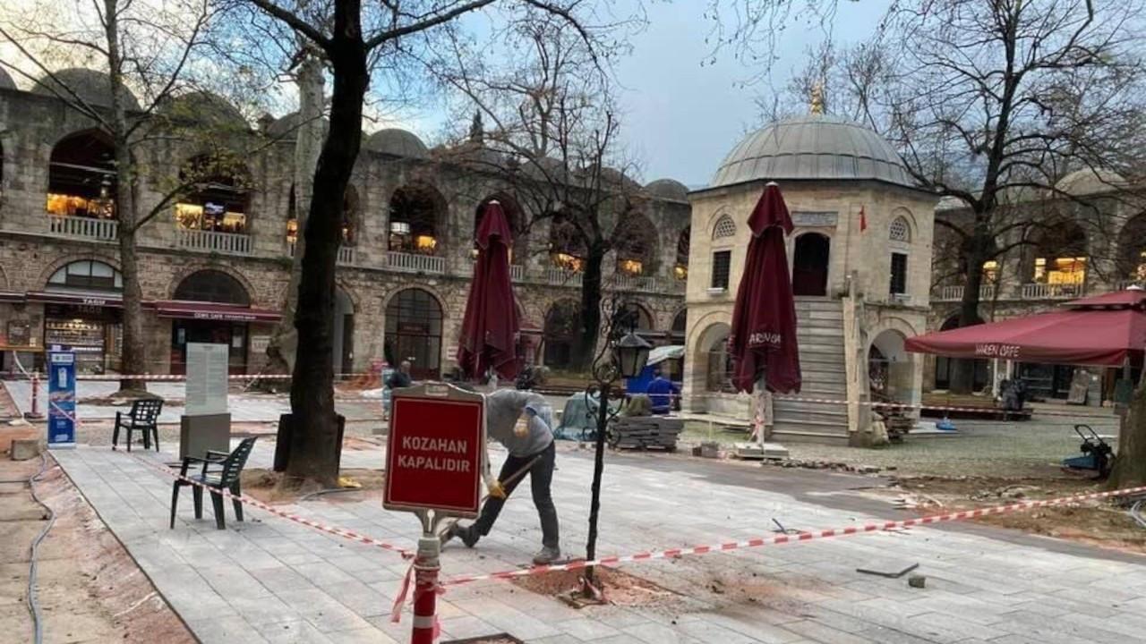 Koza Han'da inşaat tepkiler nedeniyle durduruldu