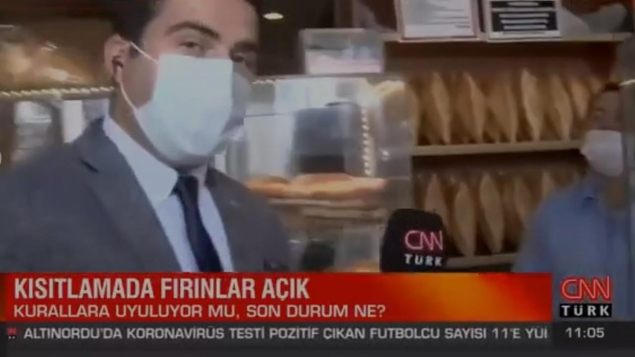 CNN Türk muhabiri esnaf dert yanınca röportajı kesti