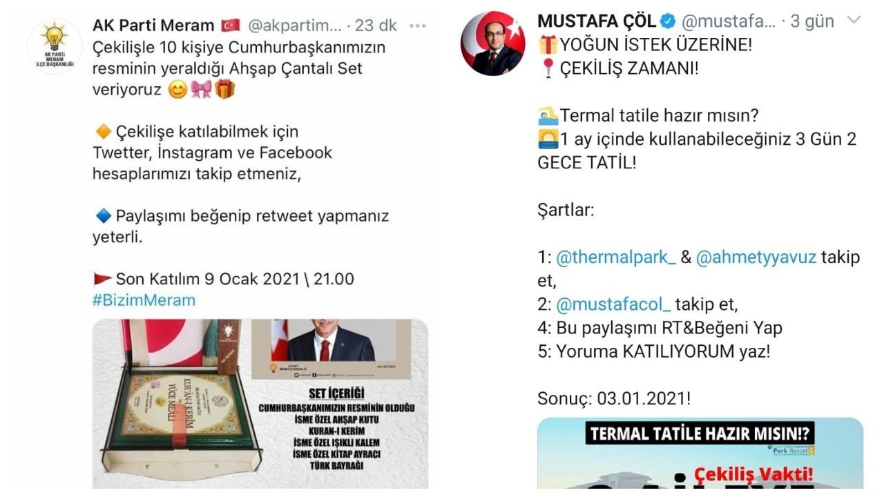AK Partili belediye başkanını takip edene tatil çekilişi