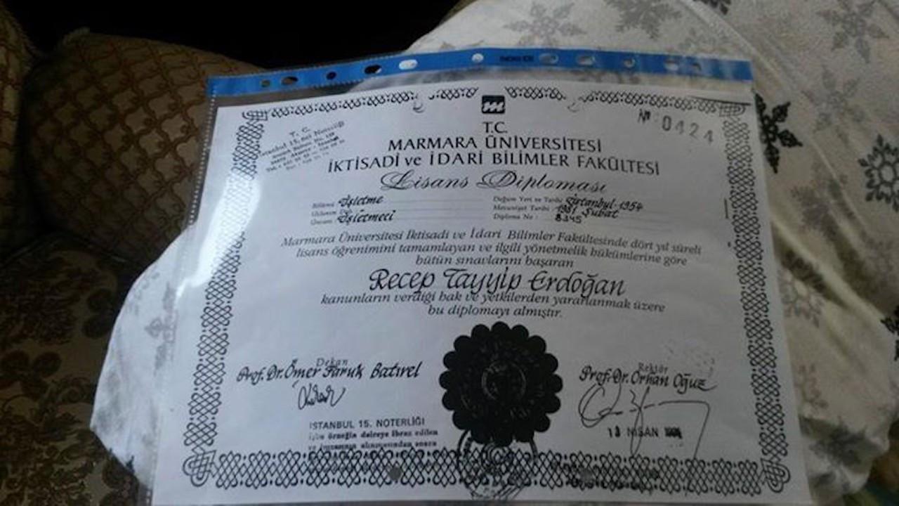 Yerlikaya'nın diplomasını yakalayan HKP Erdoğan için de dilekçe verdi