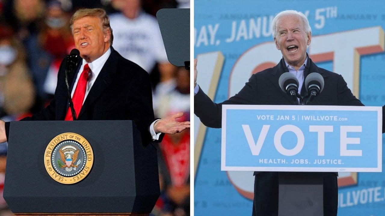Trump ile Biden kritik seçim öncesi Georgia'da miting düzenledi