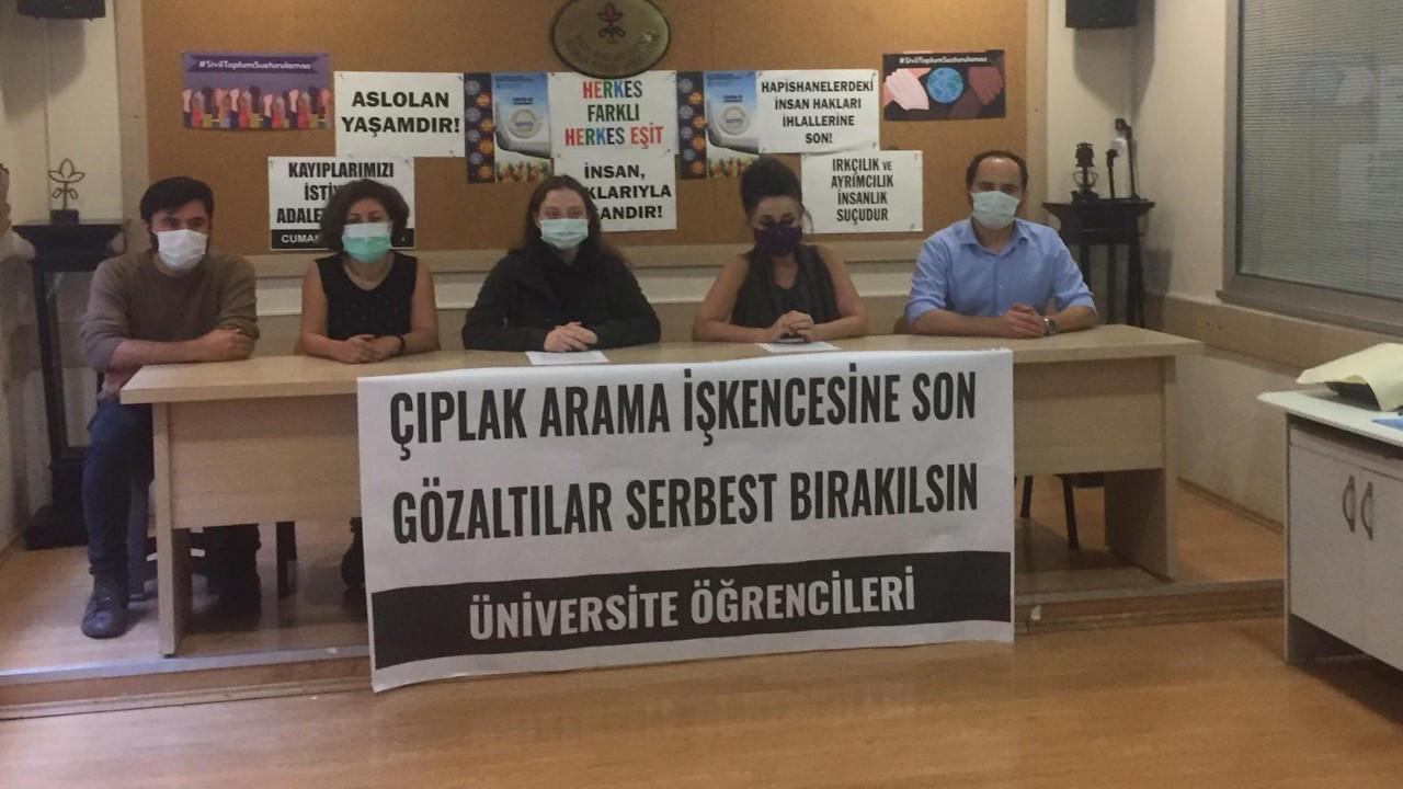 İHD'de Boğaziçi açıklaması: Öğrencilerin kıyafetleri zorla çıkartıldı