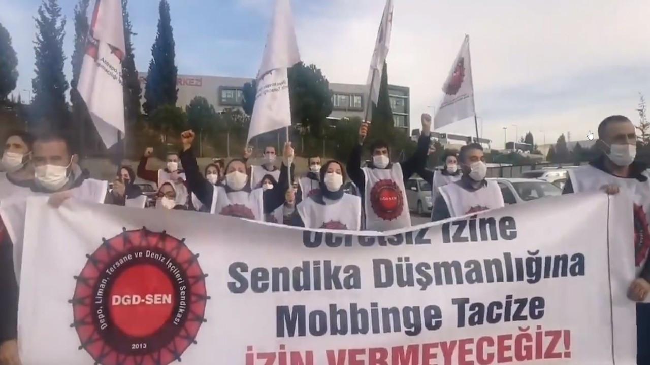 Şekerpınar'da işçilerin 'ücretsiz izin' eylemi sürüyor