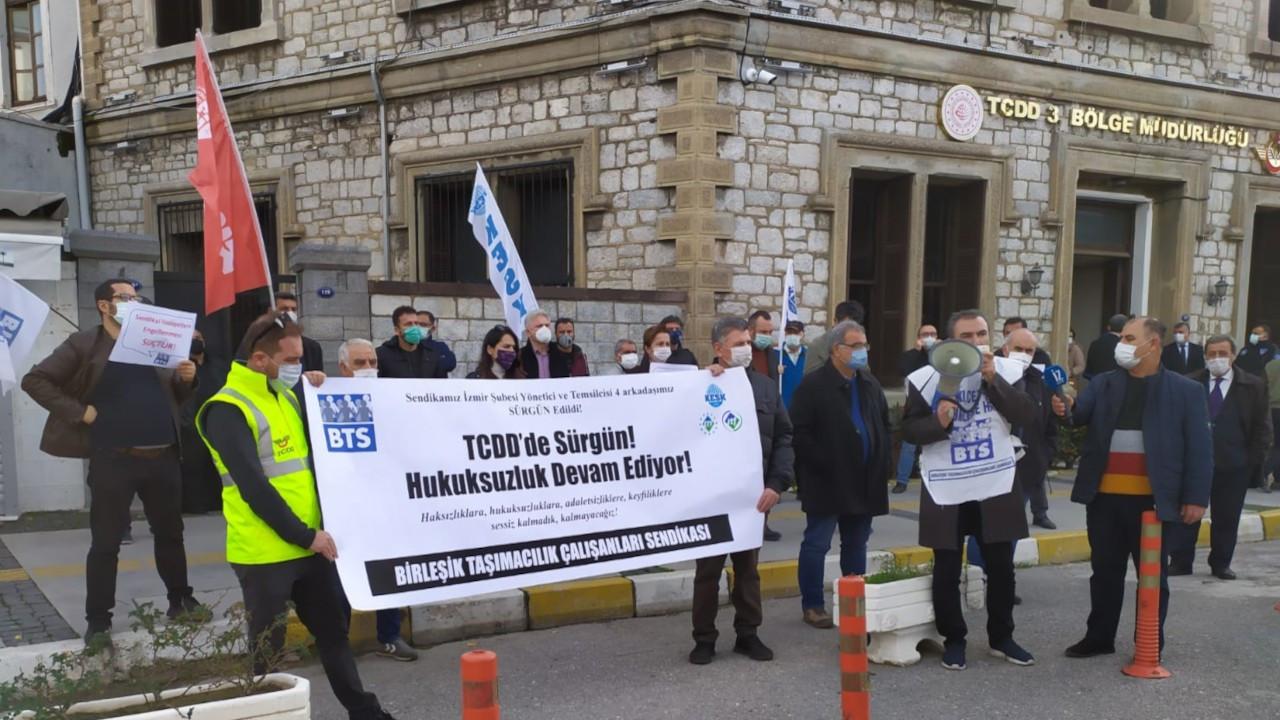 'Sendikacılar İzmir'den Kars'a, trenden depoya sürgün edildi'