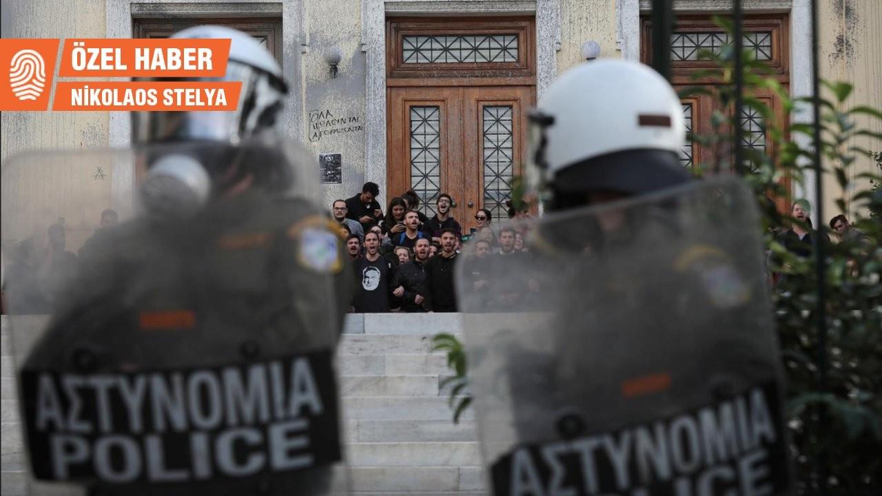 Yunanistan'da sağcı hükümetin 'üniversite polisi' tepki çekti