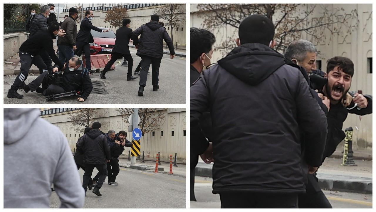 Tutuklanan Ümitcan Uygun'un yakınları gazetecilere saldırdı