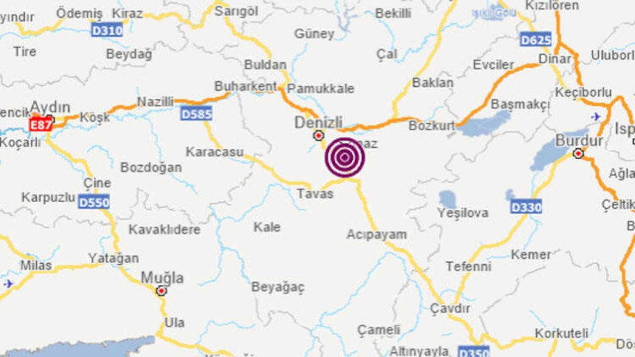 Denizli'de 4 büyüklüğünde deprem