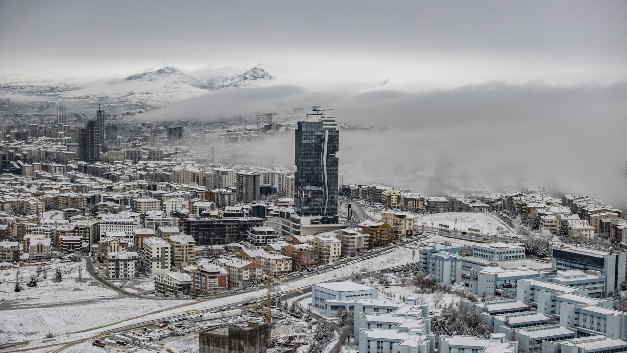 Ankara'dan kar yağışı manzaraları - Sayfa 1