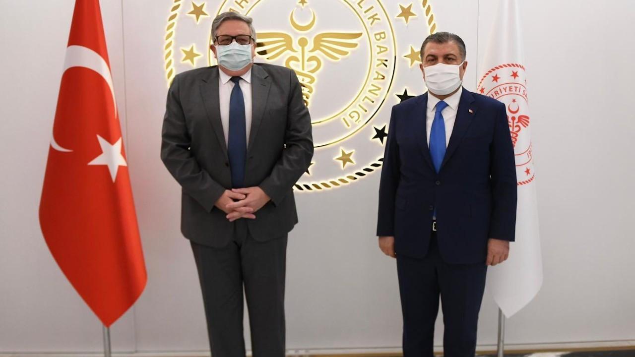 Fahrettin Koca, Rusya Büyükelçisi ile 'Sputnik V' aşısını görüştü