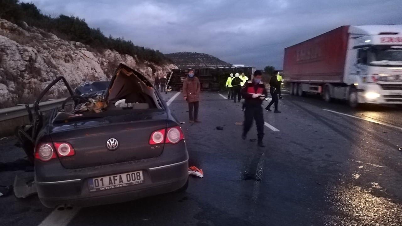 Pozantı-Ankara otoyolunda kaza: 5 ölü, 2 yaralı