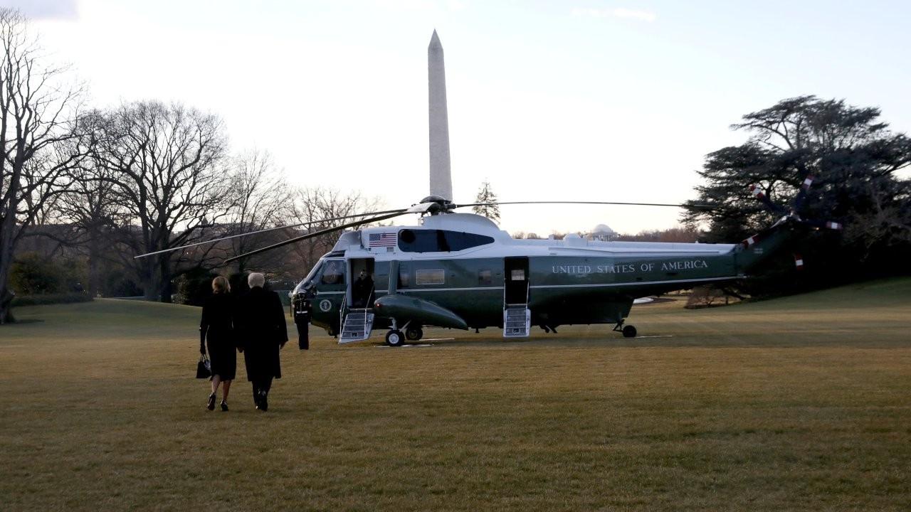 Trump, Beyaz Saray'dan son kez ayrıldı