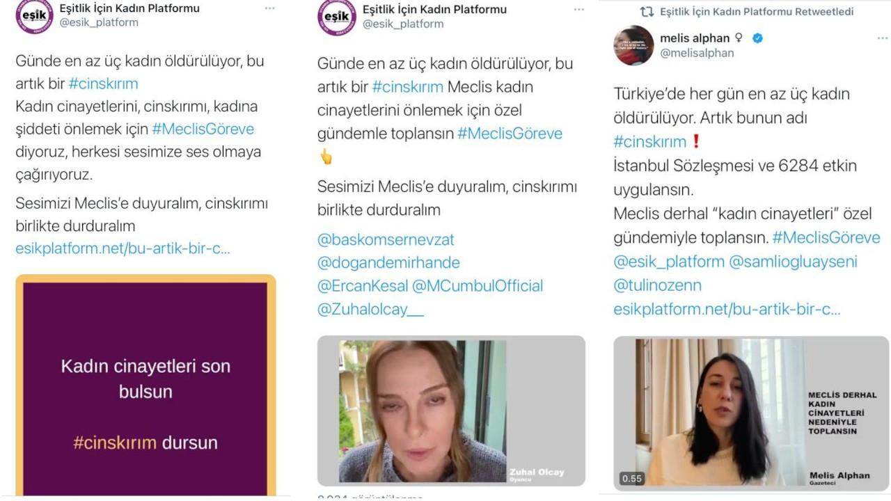 EŞİK'ten 'cinskırım' kampanyası: Günde en az 3 kadın öldürülüyor