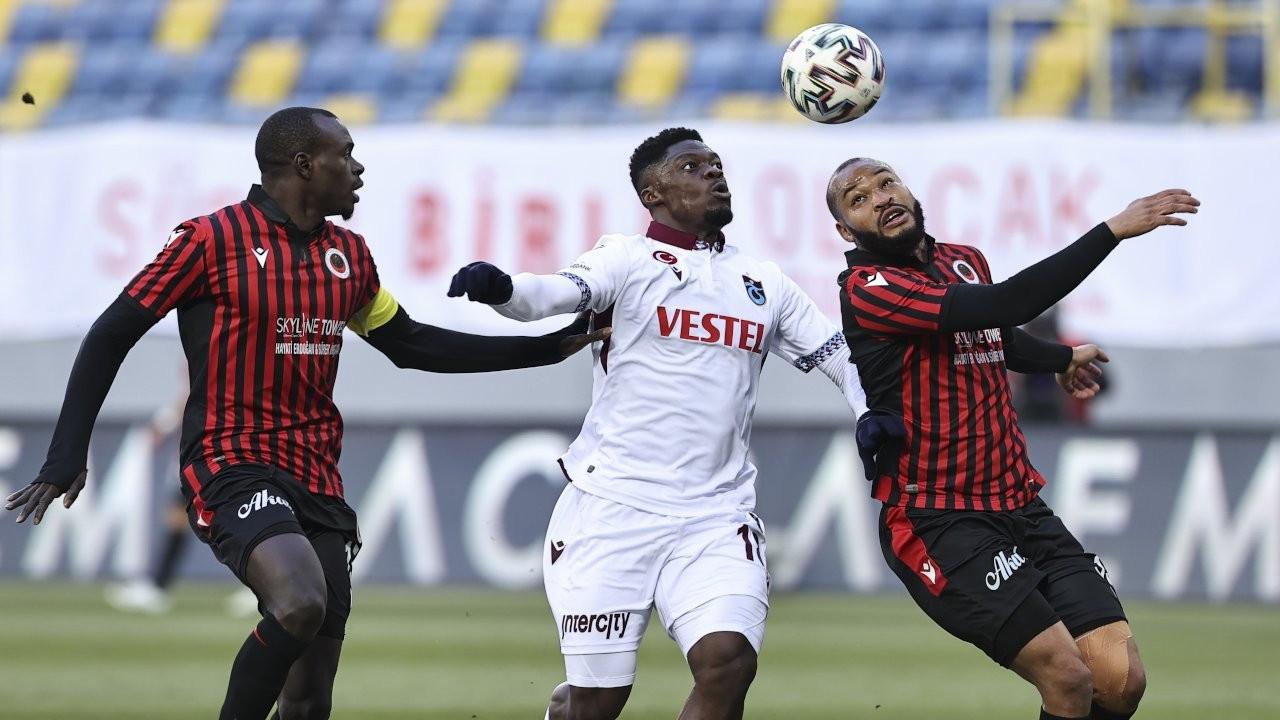 Ankara'da Trabzonspor kazandı