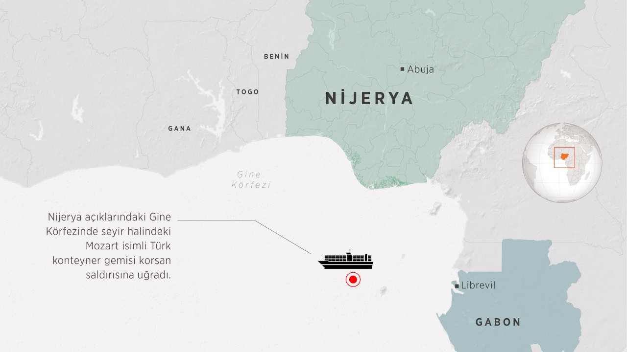 Korsanlar Türk şirketine ait gemiyi kaçırdı; 1 ölü, 15 rehine