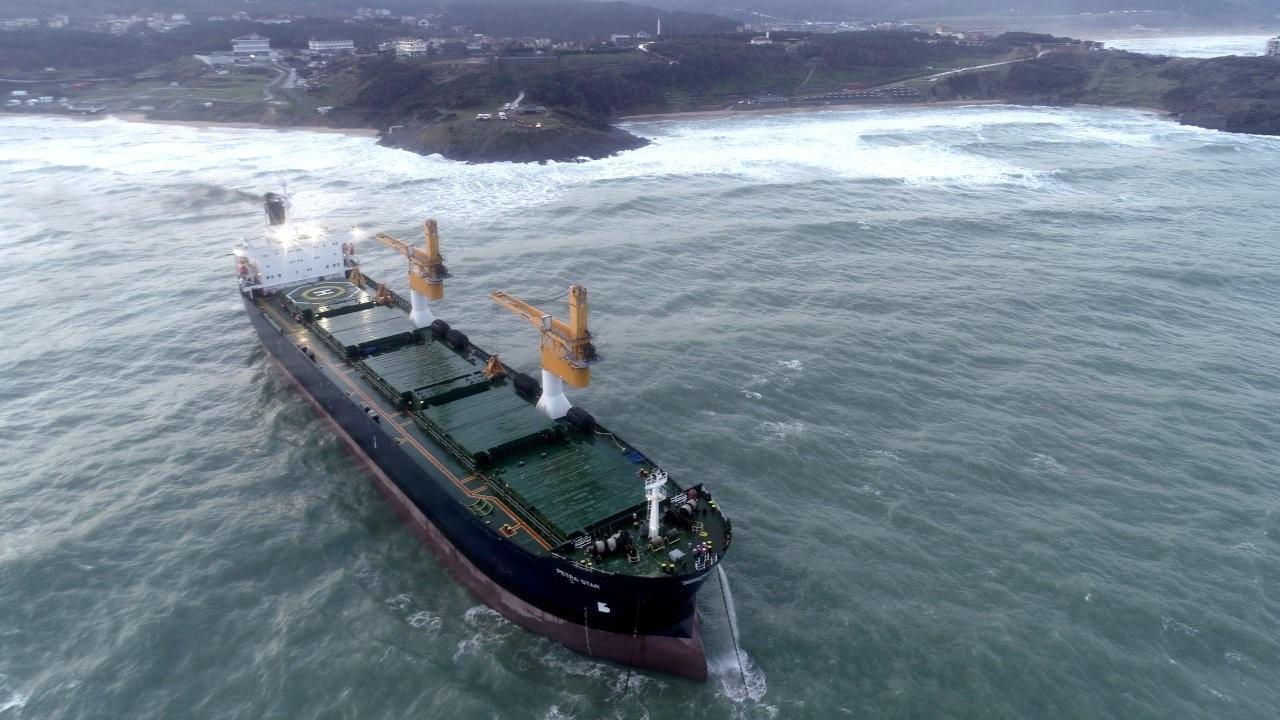 26 bin grostonluk gemi Beykoz açıklarında sürüklendi