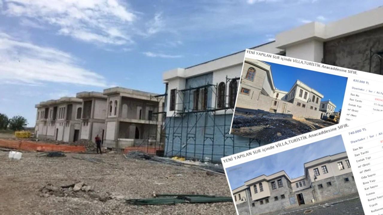 Yıkılan Sur'da villa: 700 bin liraya satılıyor