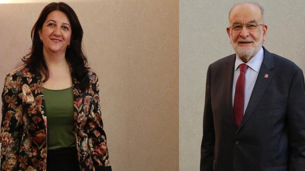 Pervin Buldan, Temel Karamollaoğlu ile görüştü