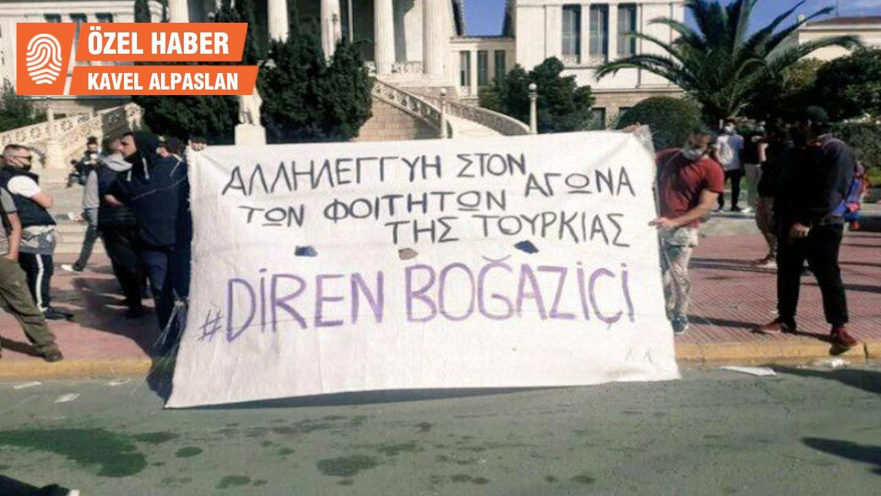 Yunanistan'daki öğrenci eylemleri: Gücümüzü Boğaziçi'nden alıyoruz
