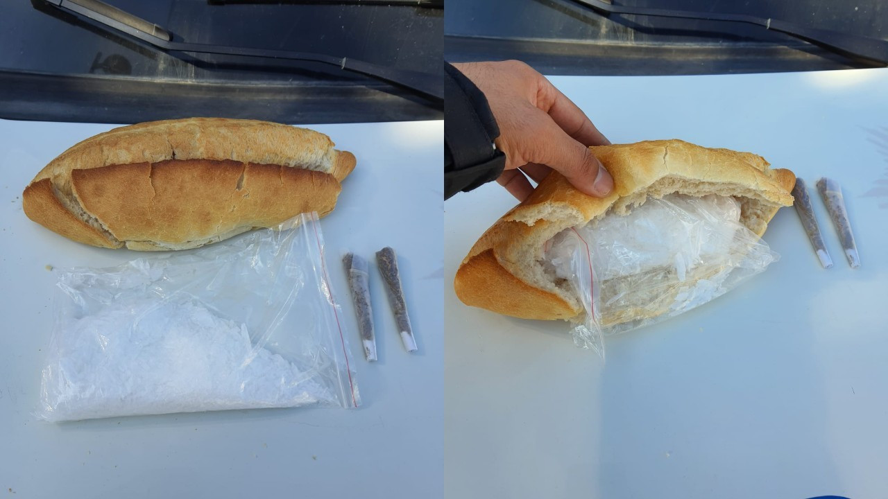 Otomobilden 'ekmek arası meth' çıktı