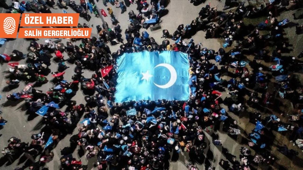 Ankara'da Çin'i protesto eden Uygurlara otel önünde abluka