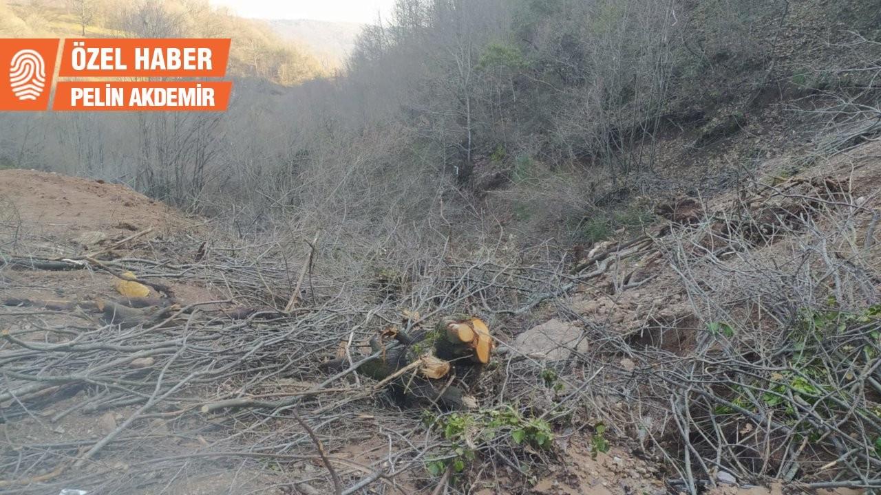 Kirazlıyayla'da maden şirketinin faaliyetleri dereyi yok etti