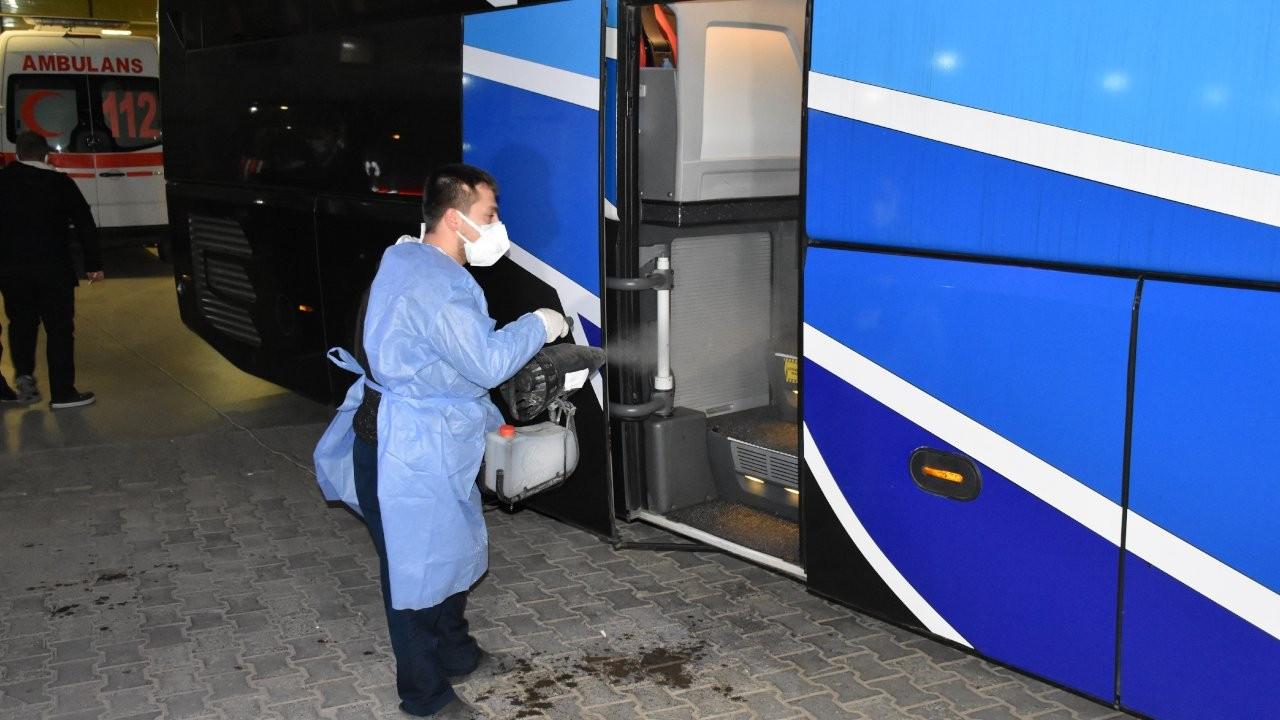 'Riskli' yolcu nedeniyle otobüsteki tüm yolculara karantina
