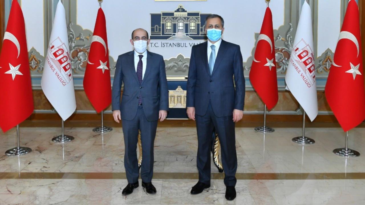 Melih Bulu İstanbul Valisi Yerlikaya'yı ziyaret etti