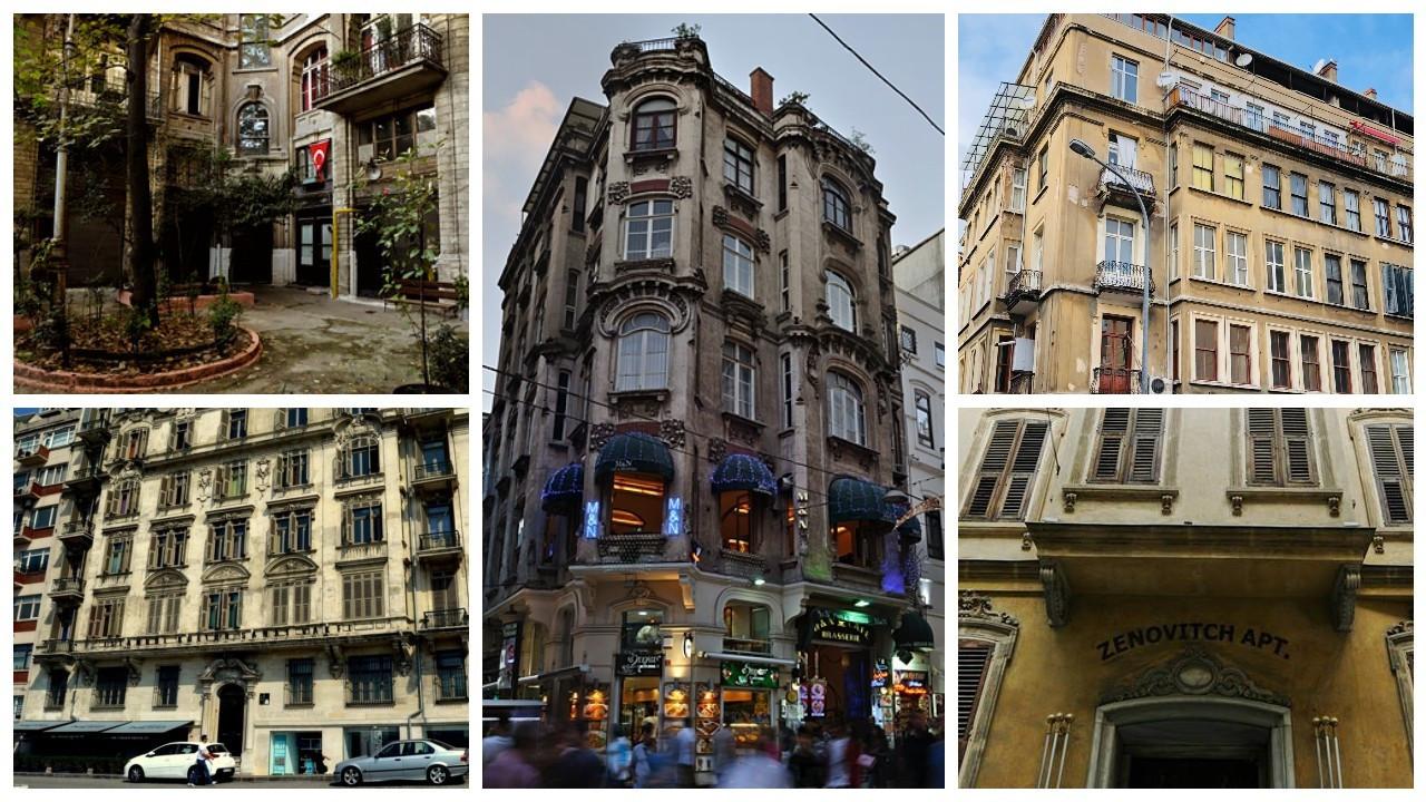 Tarihi apartmanlar Kültür Envanteri'nde