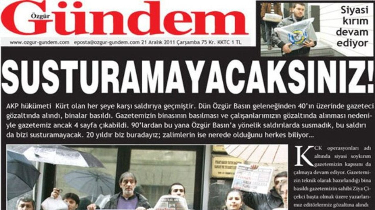 'Gazetecilik icat edilmiş suçlarla yargılanamaz'