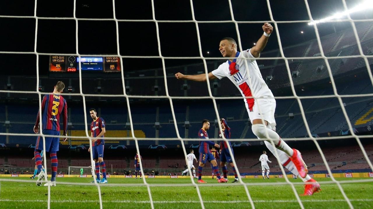 PSG, Barcelona'yı farklı mağlup etti