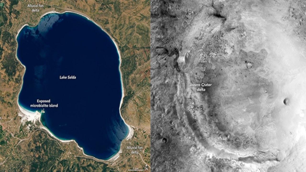 Mars'taki krater ile Salda Gölü arasında nasıl bir bağ var?