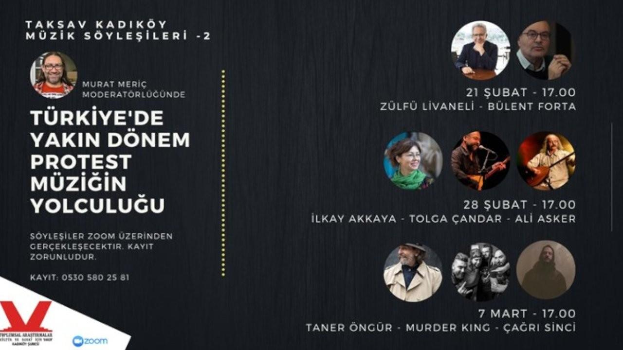 TAKSAV Kadıköy'den müzik söyleşileri: Türkiye'de Protest Müziğin Yolculuğu