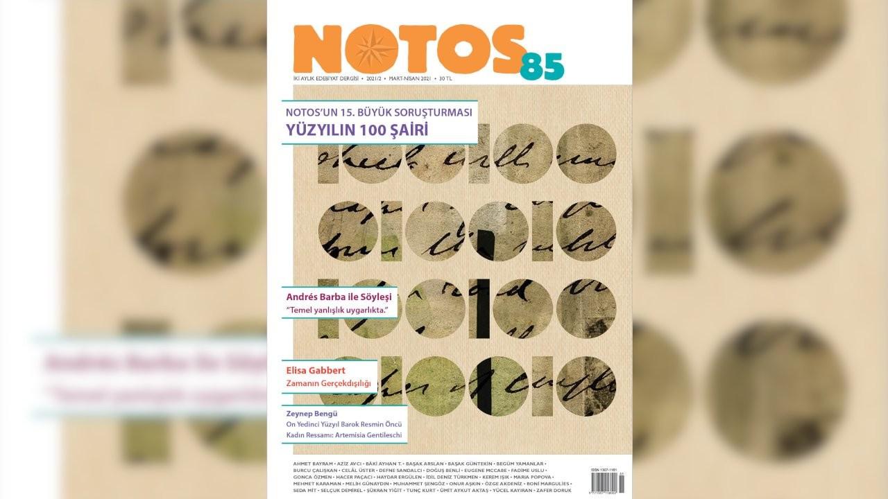 Notos'un Mart-Nisan sayısı yayımlandı
