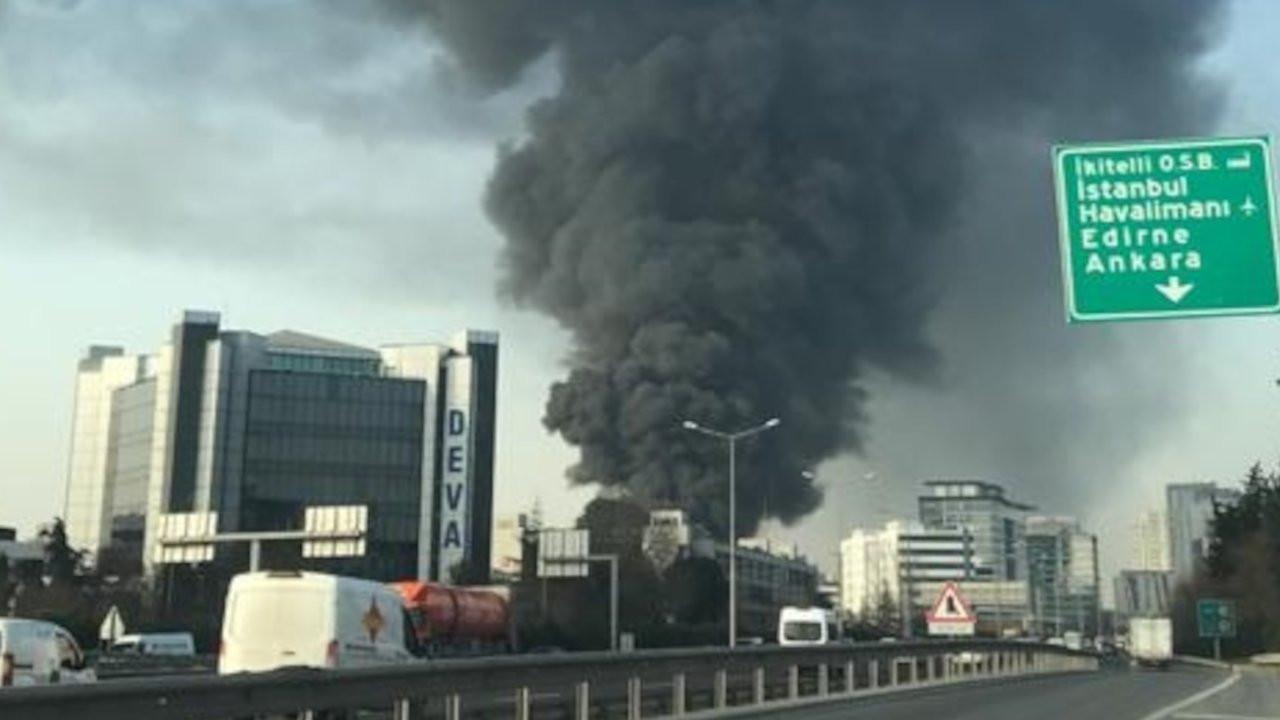 Halkalı'daki dönüşüm tesisi yangını kontrol altına alındı