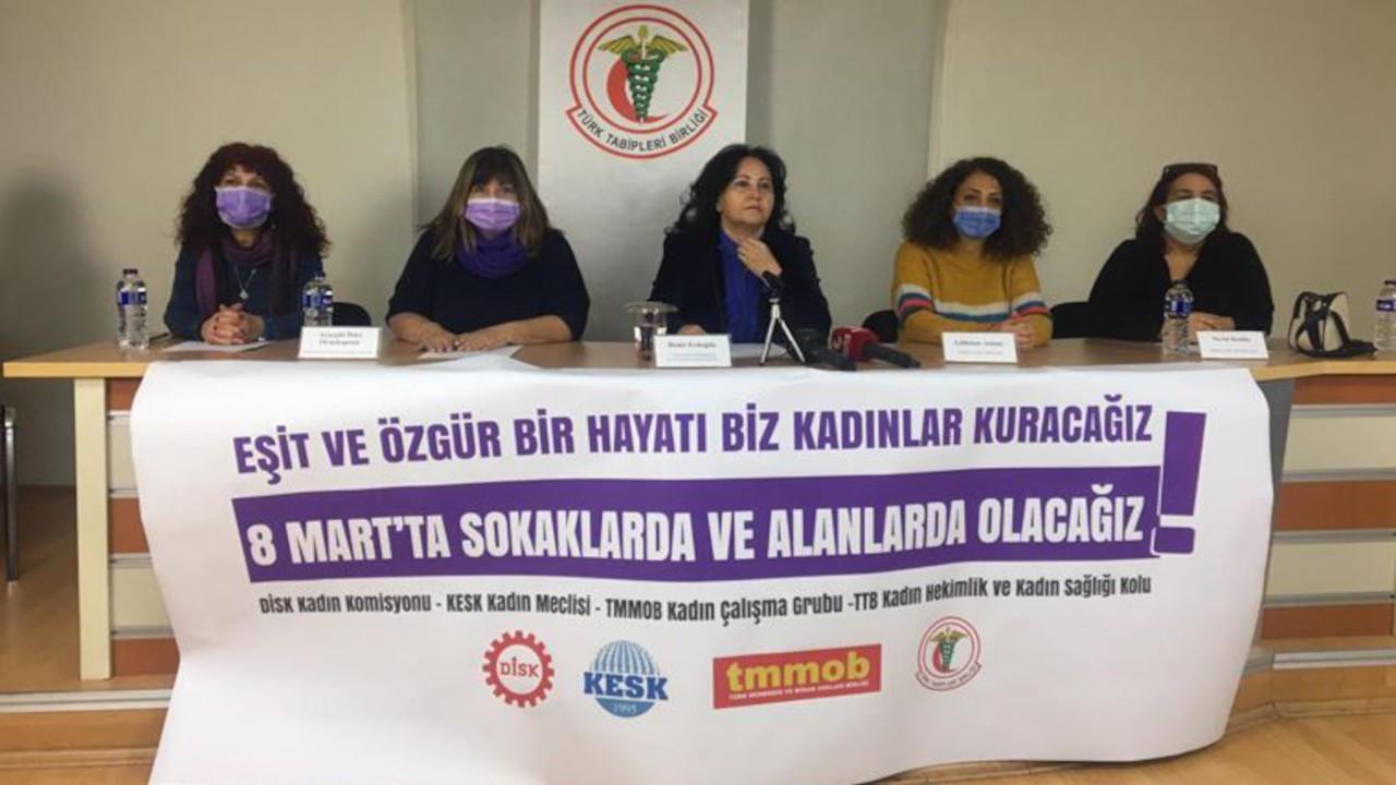 Kadın komisyonlarından ortak açıklama: Alanlarda olacağız