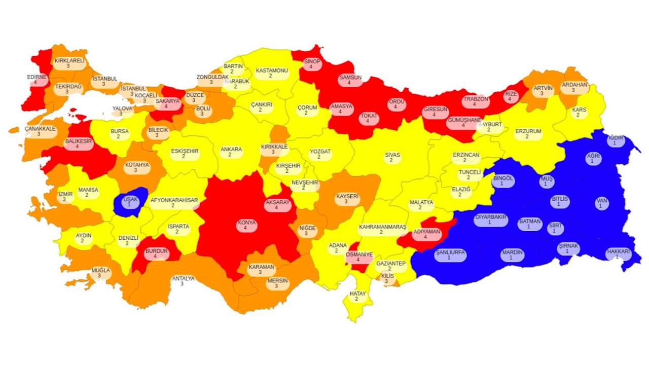 Fahrettin Koca, illerin risk haritasını açıkladı