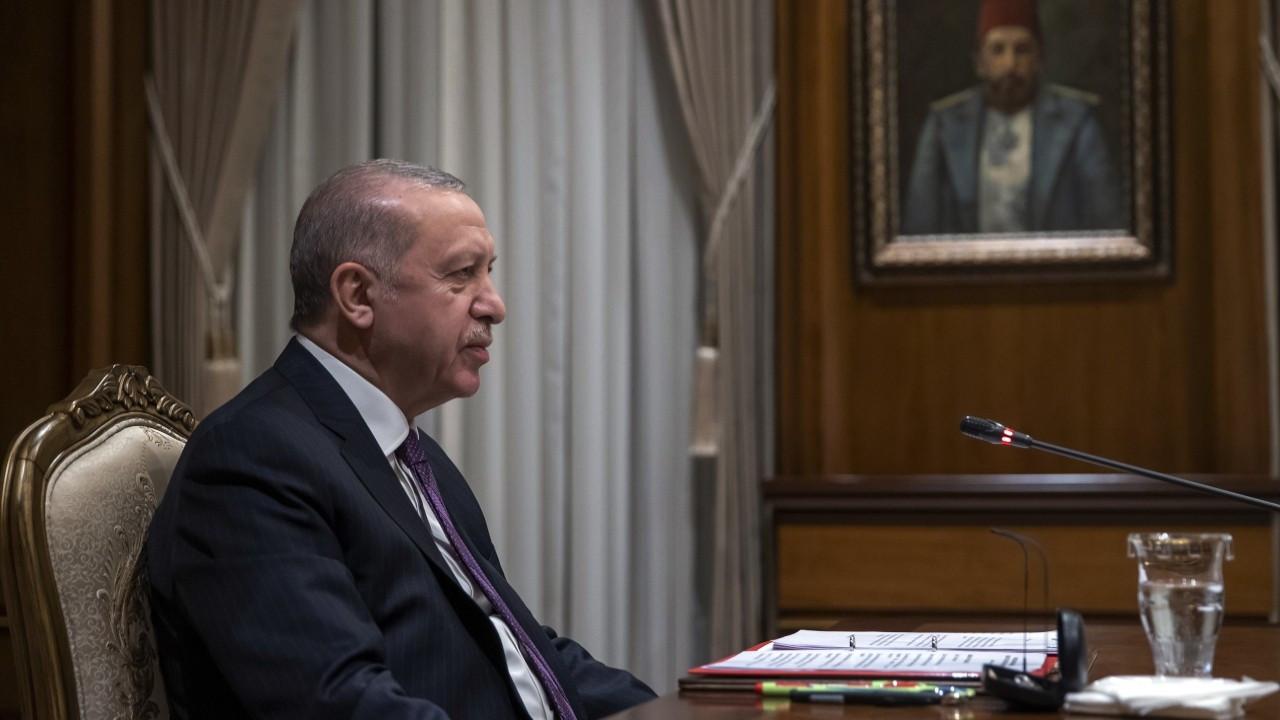 Cumhurbaşkanı Erdoğan, Emmanuel Macron'la görüştü