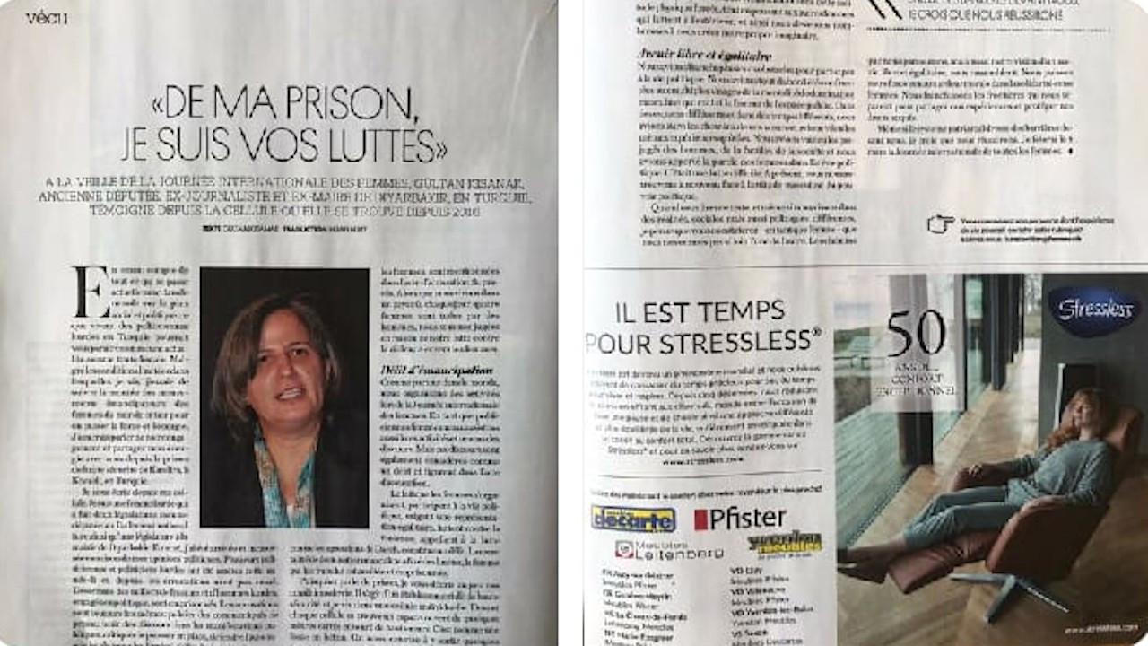 Kışanak İsviçre dergisine 8 Mart için yazdı: Sınır Tanımayan Hayaller