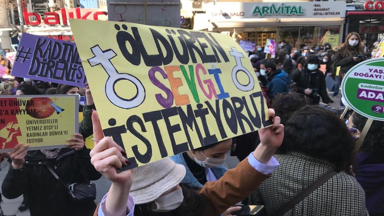 Ankara'da 8 Mart: Öldüren sevgi istemiyoruz!