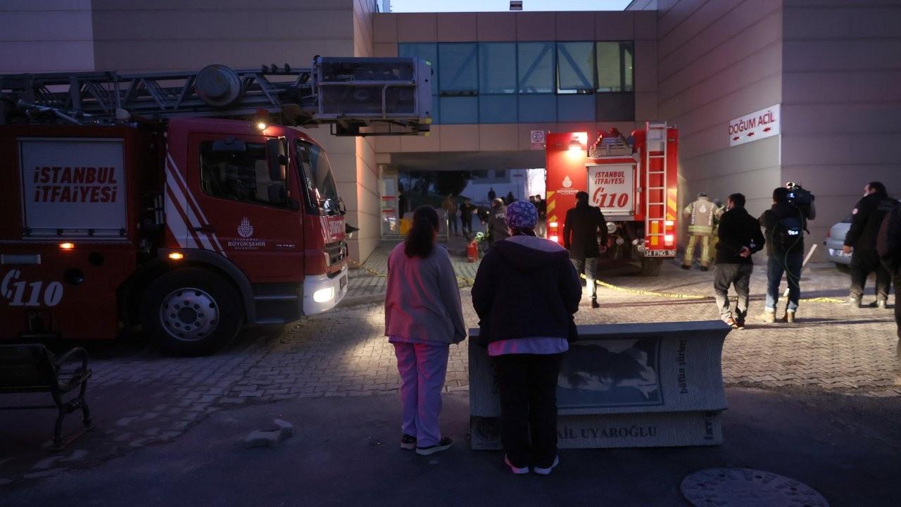 Zeynep Kamil Hastanesi'nde yangın