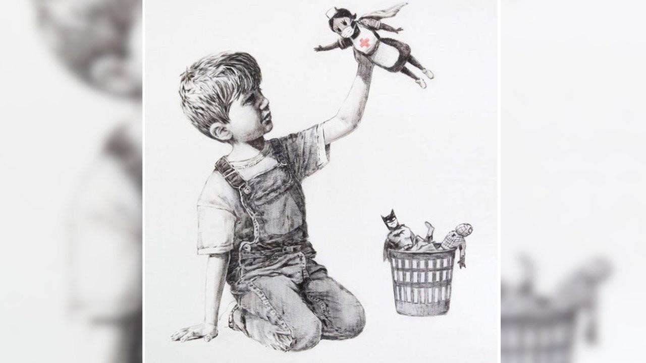 Banksy'den sağlıkçılara destek