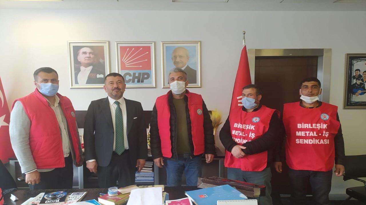 Ekmekçioğulları işçileri CHP Genel Merkezi'ne gitti