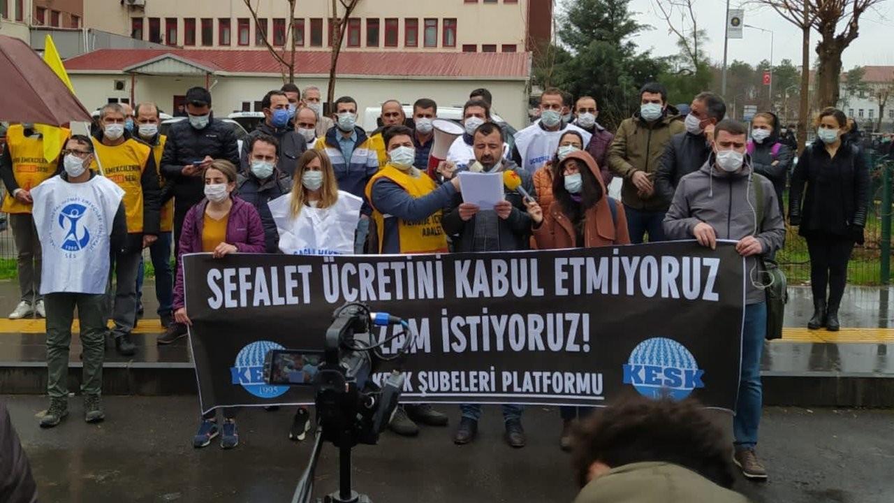 Diyarbakır'da yüzde 3'lük maaş zammına tepki