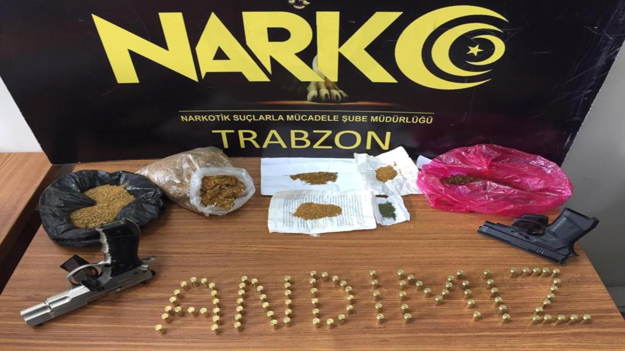Trabzon'da 'Andımız'lı uyuşturucu operasyonu
