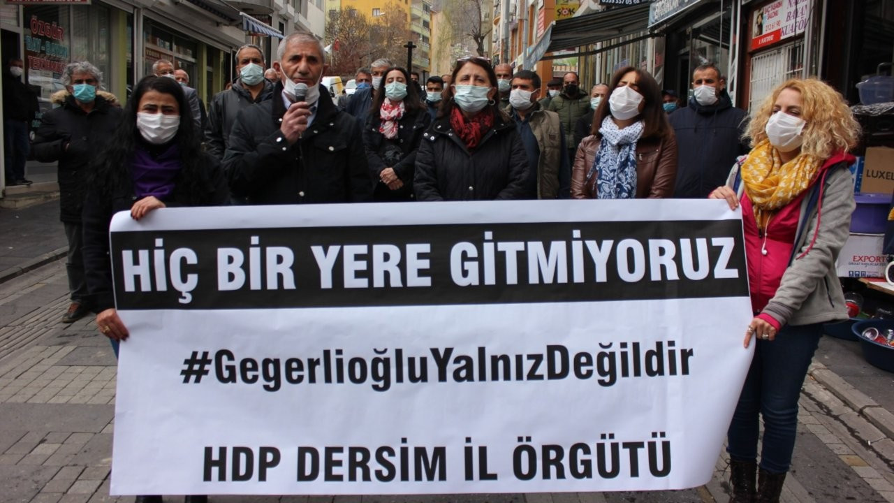 Dersim'de HDP ve EMEP'ten Gergerlioğlu protestosu